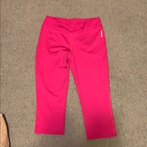 Reebok Hot Pink Yoga Pants